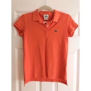 Lacoste Tops - Lacoste women's orange polo shirt - size 36 (US 4)